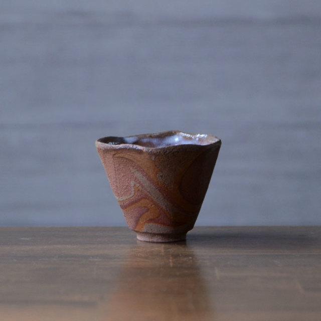 【共箱付】彩墨流酒器 -茶-(JS-640) 作家「瀬津純司」