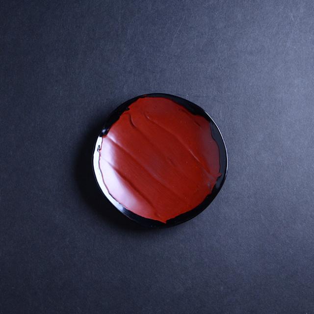 漆器 乾漆小皿(茜) 作家「角好司」