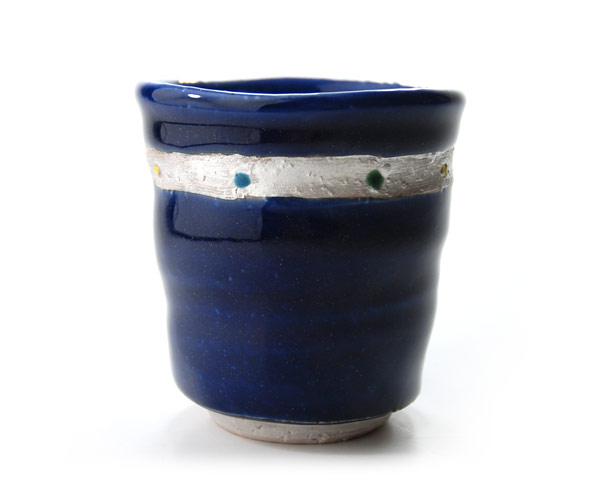 瑠璃釉 湯呑 作家「荒木漢一」
