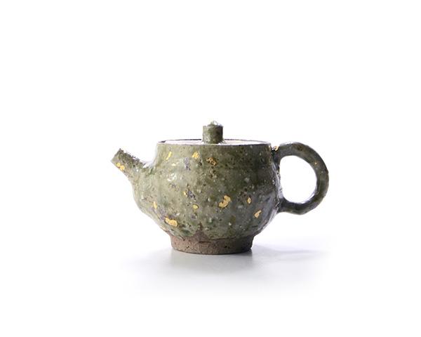 灰釉金彩小茶器