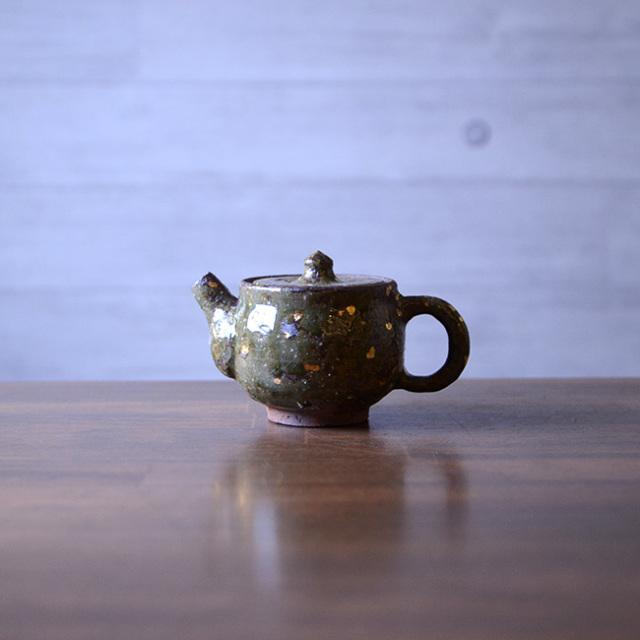 和食器 灰釉金彩小茶器 作家「荒木漢一」