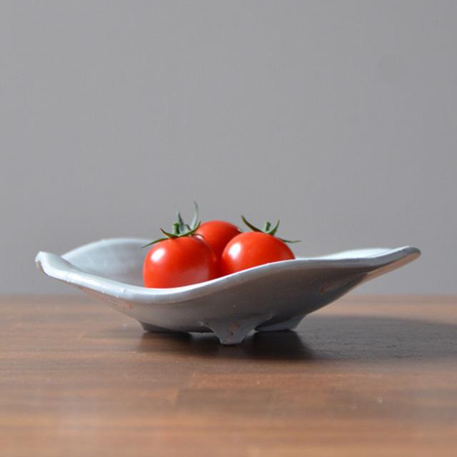 和食器 青白磁足付皿 作家「荒木漢一」