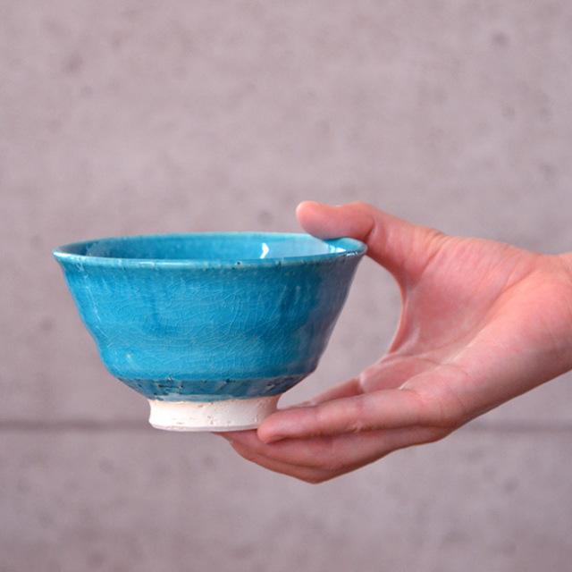 和食器 トルコブル-茶碗 作家「荒木漢一」