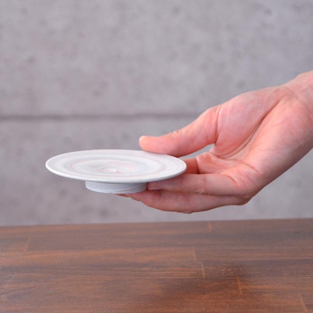 和食器 練込小皿 作家「荒木漢一」