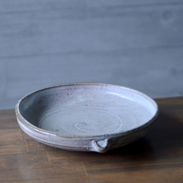 和食器 塩釉片口六寸皿(KIA-099) 作家「荒木漢一」