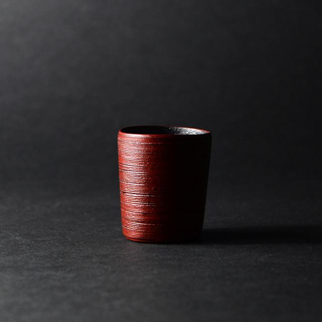 乾漆酒器(赤) 作家「野口健」