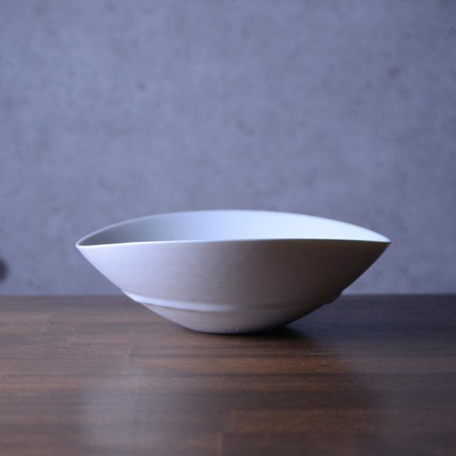 和食器 白磁楕円ボウル(小) 作家「竹内紘三」