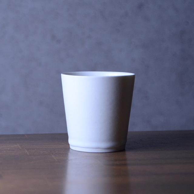 白磁ミディアムカップ 作家「竹内紘三」