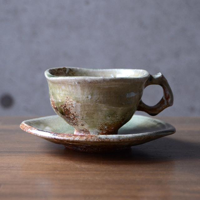 和食器・伊賀灰釉コーヒーカップ 作家「新学」
