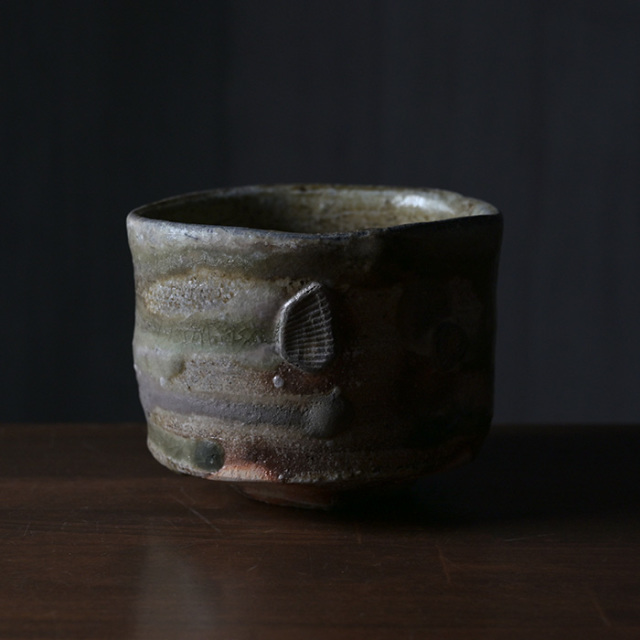 【共箱付】伊賀茶碗(MA-154) 作家「新学」