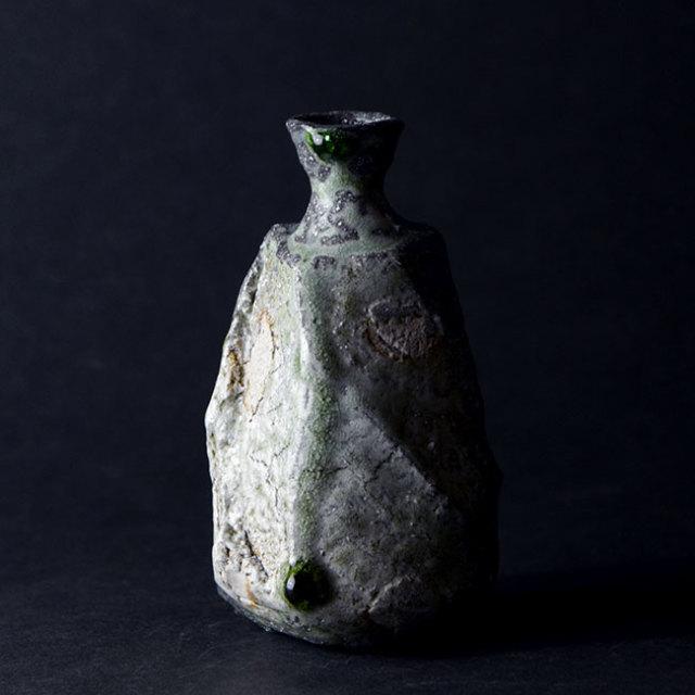 伊賀鎬徳利(共箱付no.4) 作家「新学」