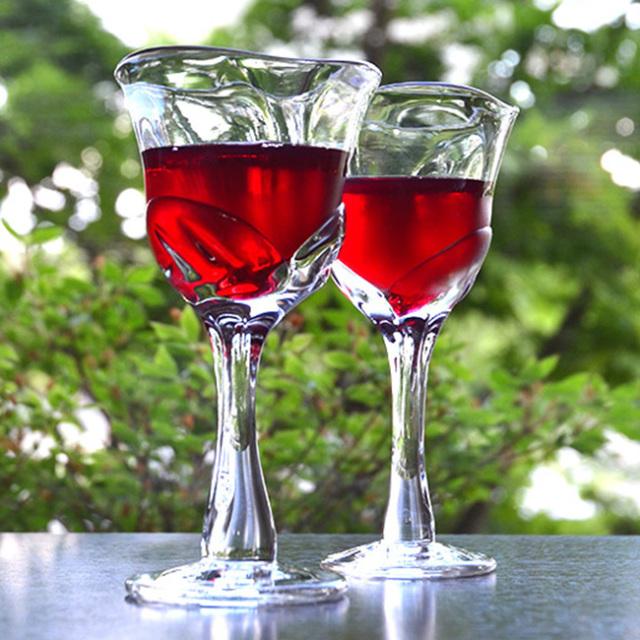 ガラス ゆらめくワイングラス 作家「原光弘」
