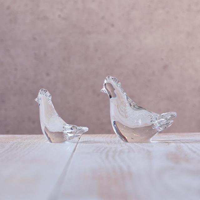 2017年 干支ガラス 酉の親子 作家「原光弘」