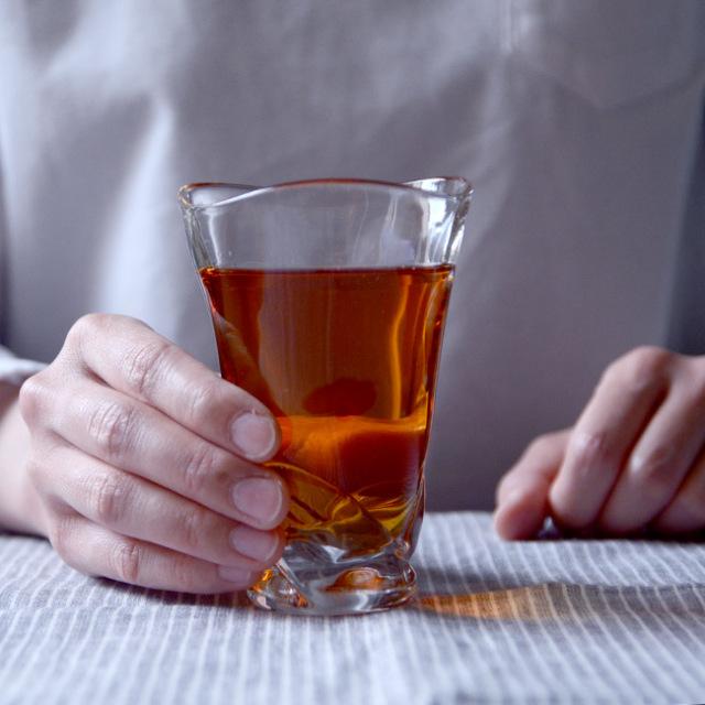 ガラス ゆらめくビアカップ 作家「原光弘」