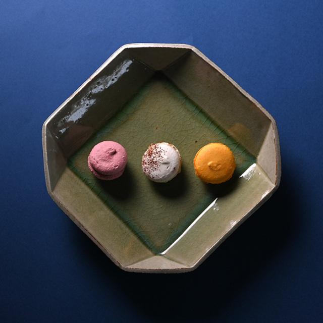 森緑釉八角鉢作家「山本雅彦」