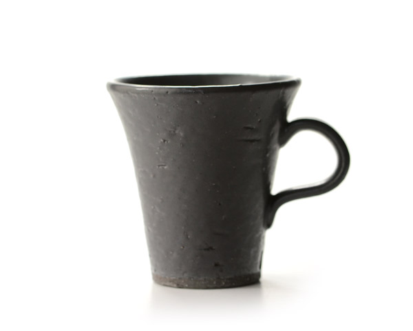和食器 黒釉マグカップ 作家「生駒奈於実」
