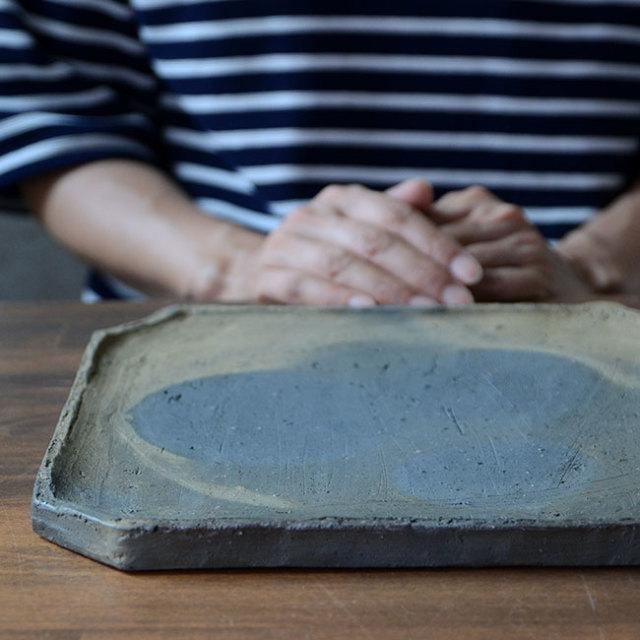 和食器 南蛮八寸隅切四方皿 作家「川淵直樹」