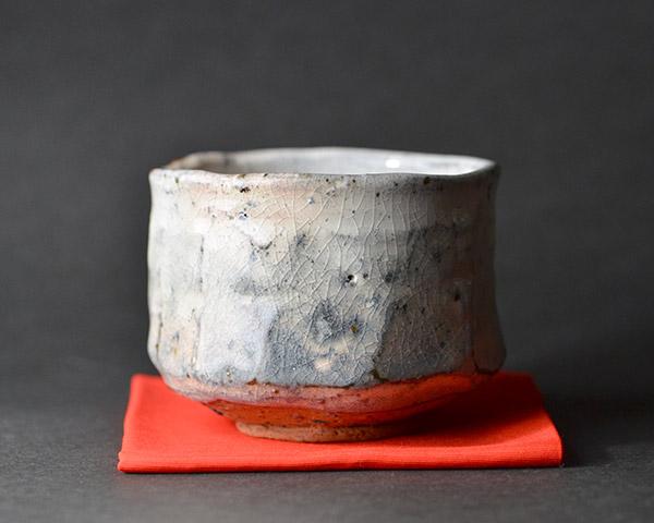 美濃粉引茶碗(木箱付) 作家「林隆一郎」