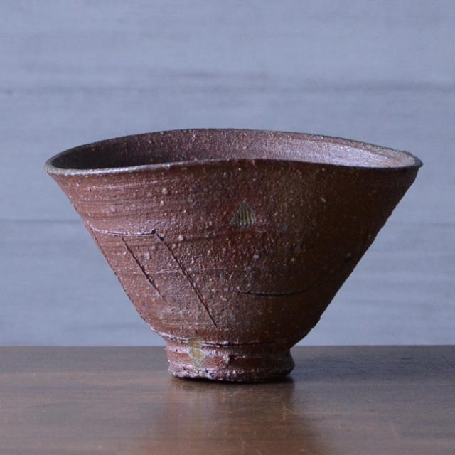 自然釉茶碗(共箱付) 作家「鯉江良二」