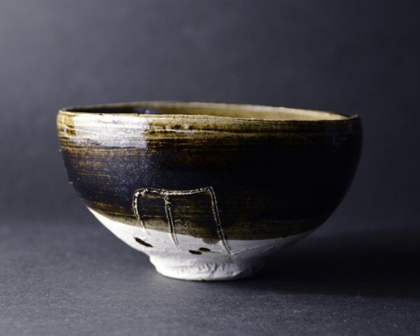 黒茶碗(共箱付) 作家「鯉江良二」