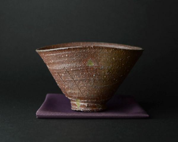 自然釉茶碗 作家「鯉江良二」