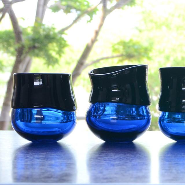 ガラス DOMAKI ブルーカップ' 作家「飯田将平」