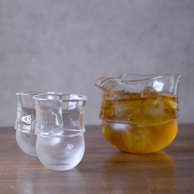 """ガラス DOMAKI """"Clear"""" 酒器揃no.7 作家「飯田将平」"""