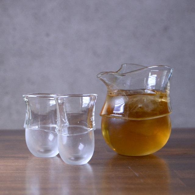 """ガラス DOMAKI """"Clear"""" 酒器揃no.9 作家「飯田将平」"""