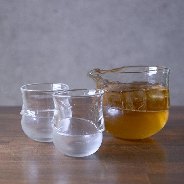 """ガラス DOMAKI """"Clear"""" 酒器揃no.10 作家「飯田将平」"""