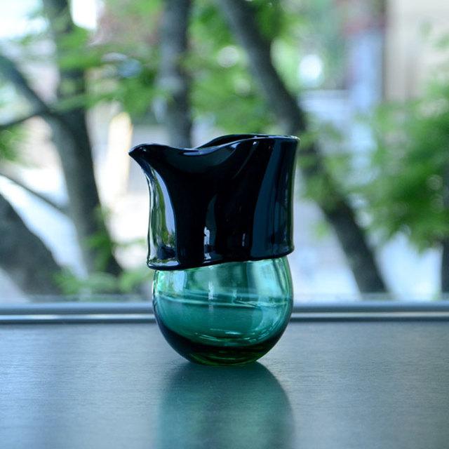 """ガラス DOMAKI """"Green"""" 注器(SI-049) 作家「飯田将平」"""