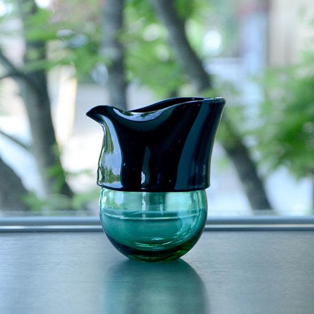 """ガラス DOMAKI """"Green"""" 注器(SI-050) 作家「飯田将平」"""