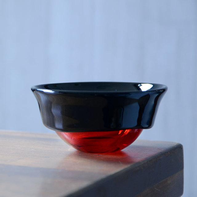 """ガラス DOMAKI """"Red"""" ボウル(SI-062) 作家「飯田将平」"""