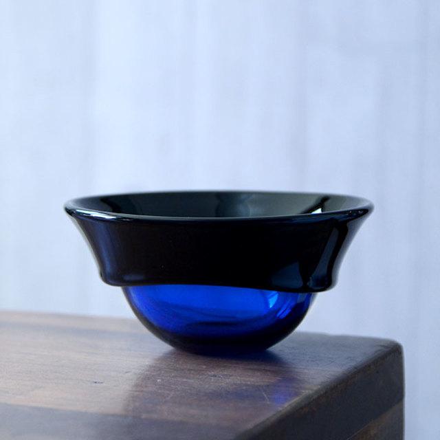 """ガラス DOMAKI """"Blue"""" ボウル(SI-063) 作家「飯田将平」"""
