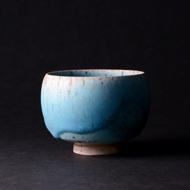 【共箱付】青茶碗 (SOY-339) 作家「山田想」