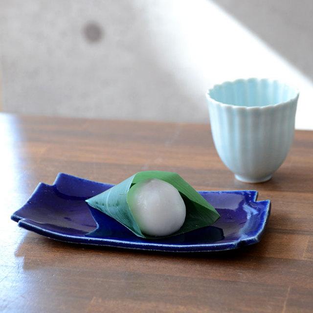 和食器 瑠璃釉十字小皿 作家「佐々木好正」