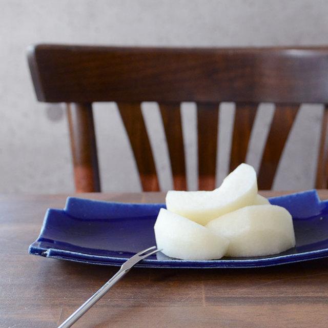 和食器 瑠璃釉十字長皿 作家「佐々木好正」