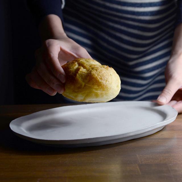 Oval Plate(白) 作家「山本壮平」