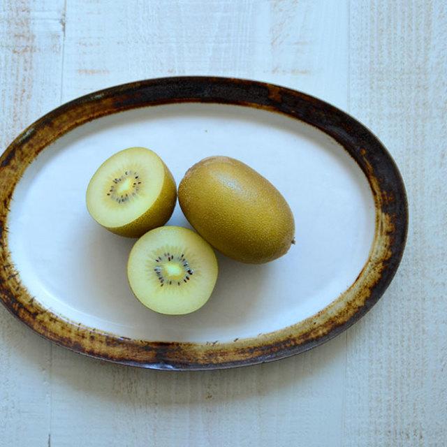 Oval Plate(茶) 作家「山本壮平」