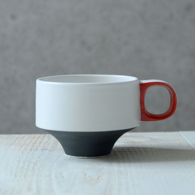 Color cup(黒赤) 作家「山本壮平」