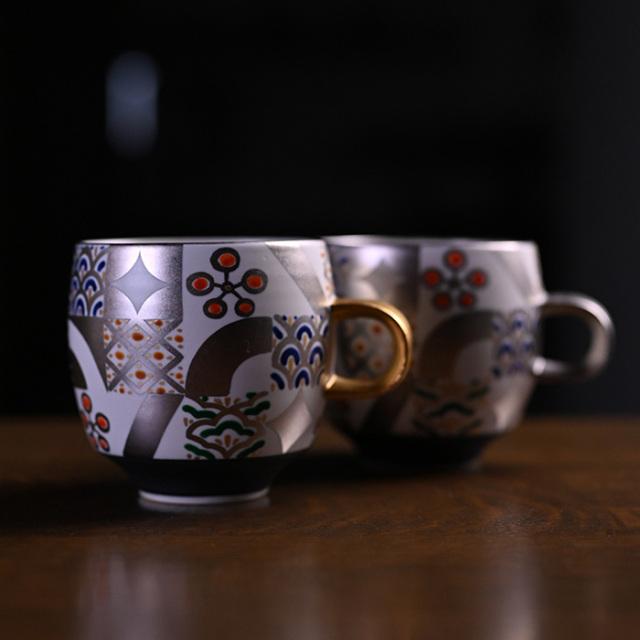 京焼色絵マグカップ 作家「山本壮平」