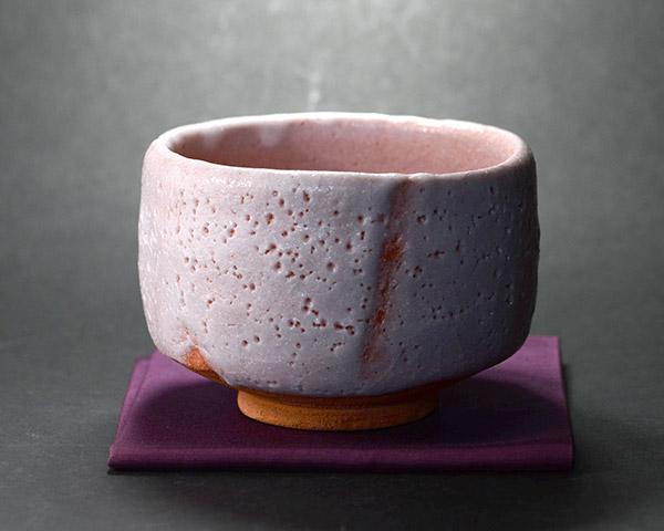 紅志野茶碗(木箱付) 作家「林健人」