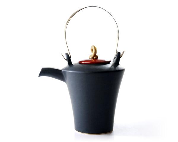 和食器 黒釉金彩酒注 作家「森野知子」