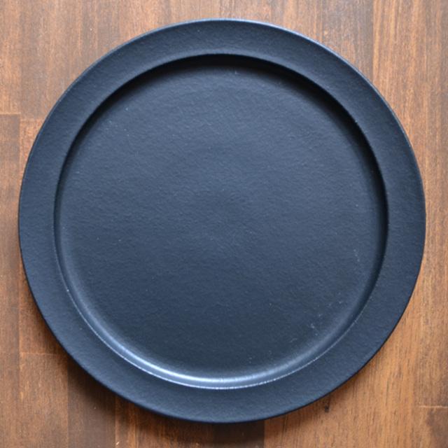 和食器 黒のプレデュードプレート(L) 作家「森野知子」