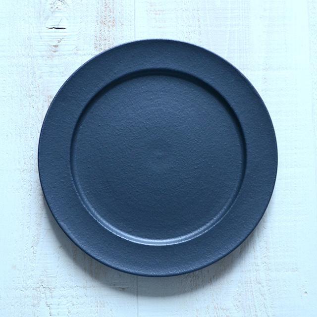 和食器 黒のプレデュードプレート 作家「森野知子」
