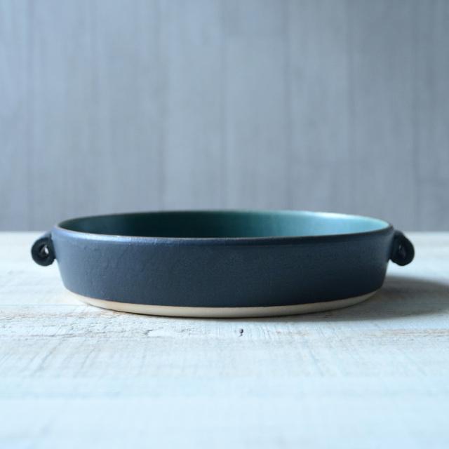 和食器 ノルウェーの森 キッシュ皿 作家「森野知子」
