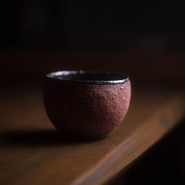 赤/黒丸碗 作家「横山拓也」