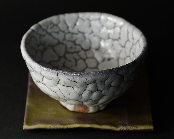 蓬莱茶碗 銘「石だたみ」(木箱付) 作家・人間国宝「清水卯一」