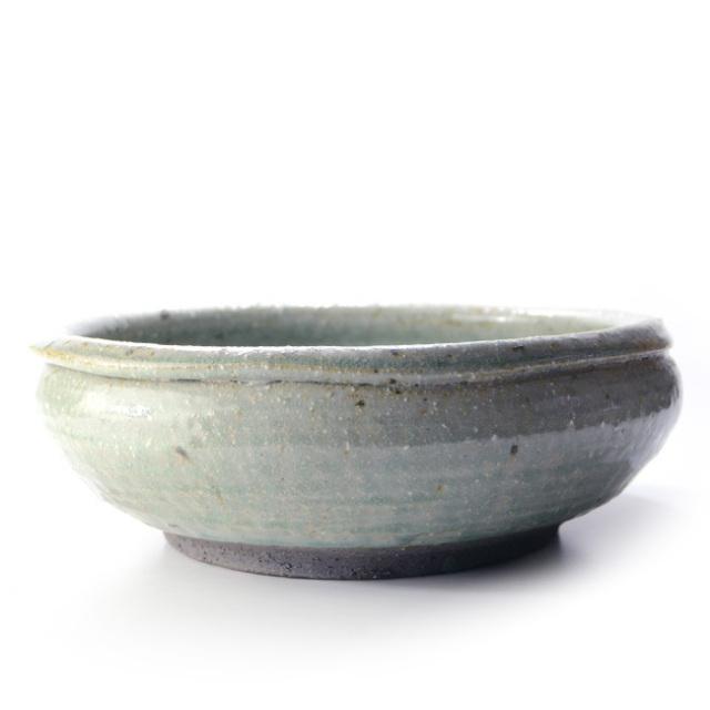 和食器 灰緑釉玉縁大鉢 作家「荒木義隆」