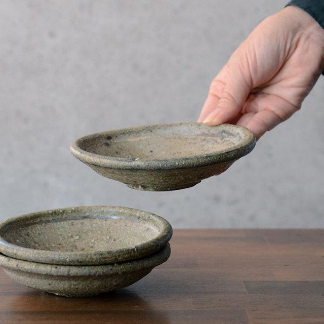 和食器 灰釉粉引玉縁皿 荒木義隆