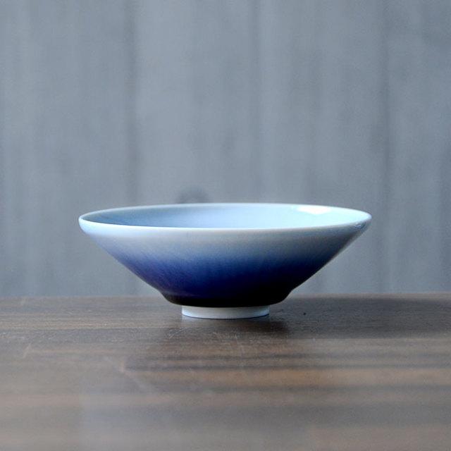 流彩磁鉢4寸(YN-016) 作家「永草陽平」